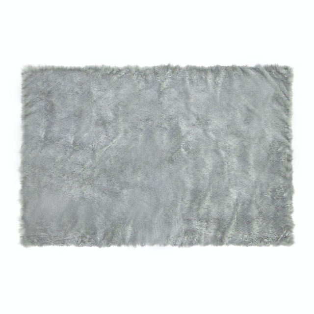 Glerry Home Decor Square Grey Fur Rug 200x150cm