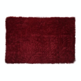 Glerry Home Decor Square Maroon Fur Rug 200x150cm