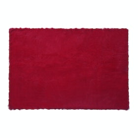 Glerry Home Decor Square Red Fur Rug 300x150cm