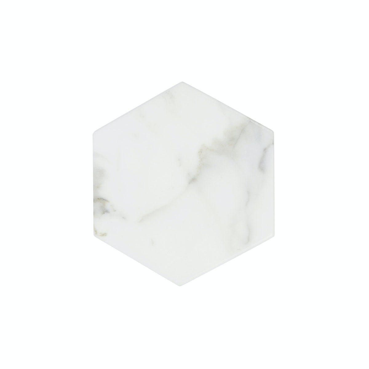 Glerry Home Decor Hexagon White Moonstone Marble D15