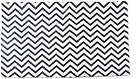 Glerry Home Decor Black Chevron Rug 100x140cm