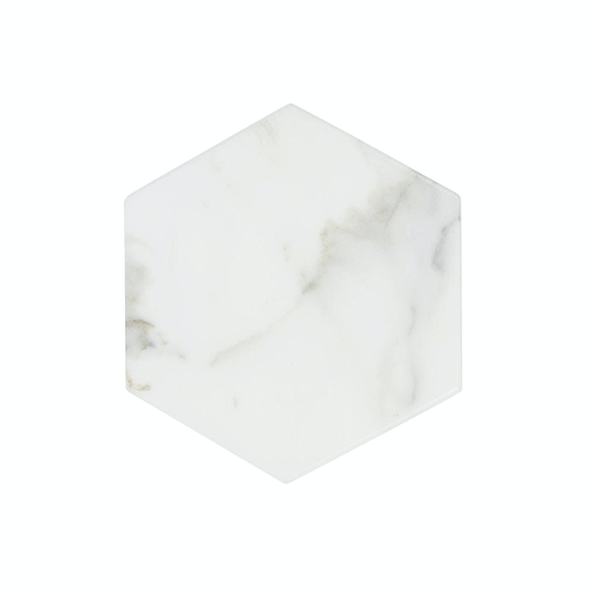Glerry Home Decor Hexagon White Moonstone Marble D20