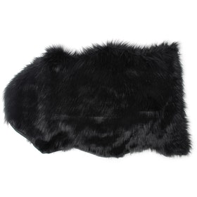 Glerry Home Decor Fish Black Fur Rug 60x90cm