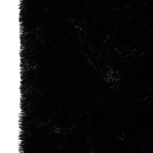 Glerry Home Decor Square Black Fur Rug 100x150cm