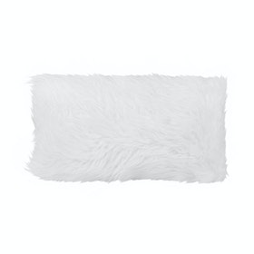 Glerry Home Decor White Fur Cushion 50x30cm