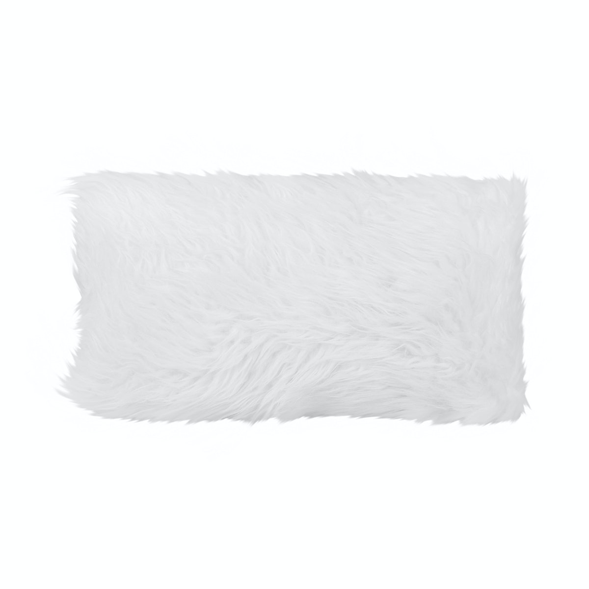 Glerry Home Decor RWhite Fur Cushion 52x32cm