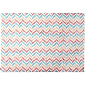 Glerry Home Decor Pastel Herringbone Rug 100x140cm
