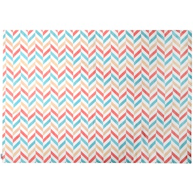 Glerry Home Decor Pastel Herringbone Rug 200x140cm