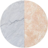 Glerry Home Decor Round Poundretteite - Moonstone Marble