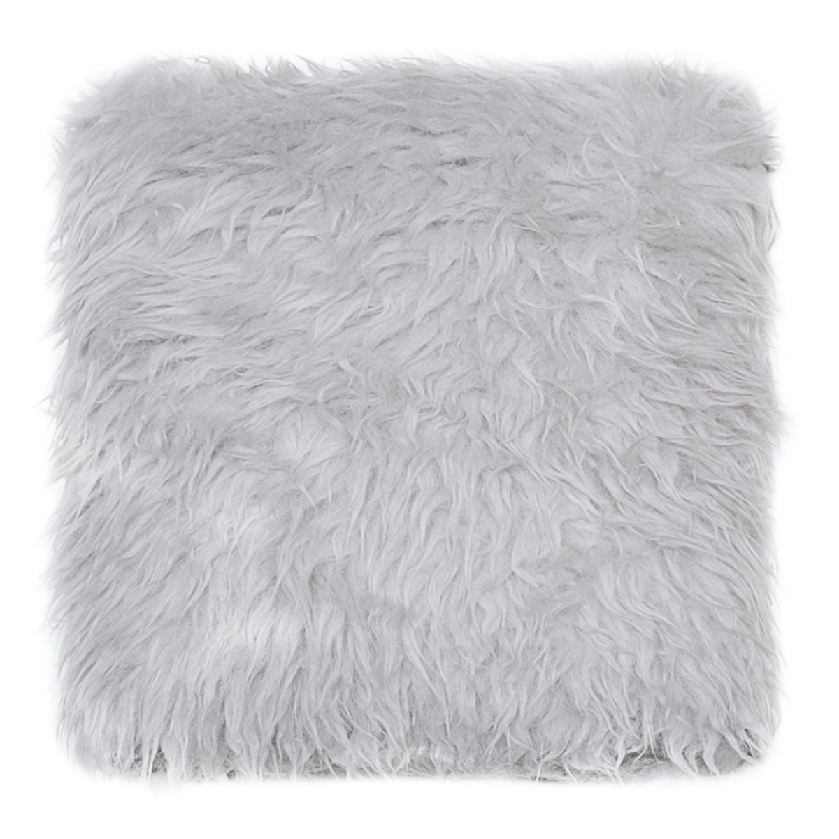 Glerry Home Decor Light Grey Fur Cushion 40x40cm