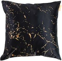 Glerry Home Decor Golden Black Marble Cushion 40x40cm