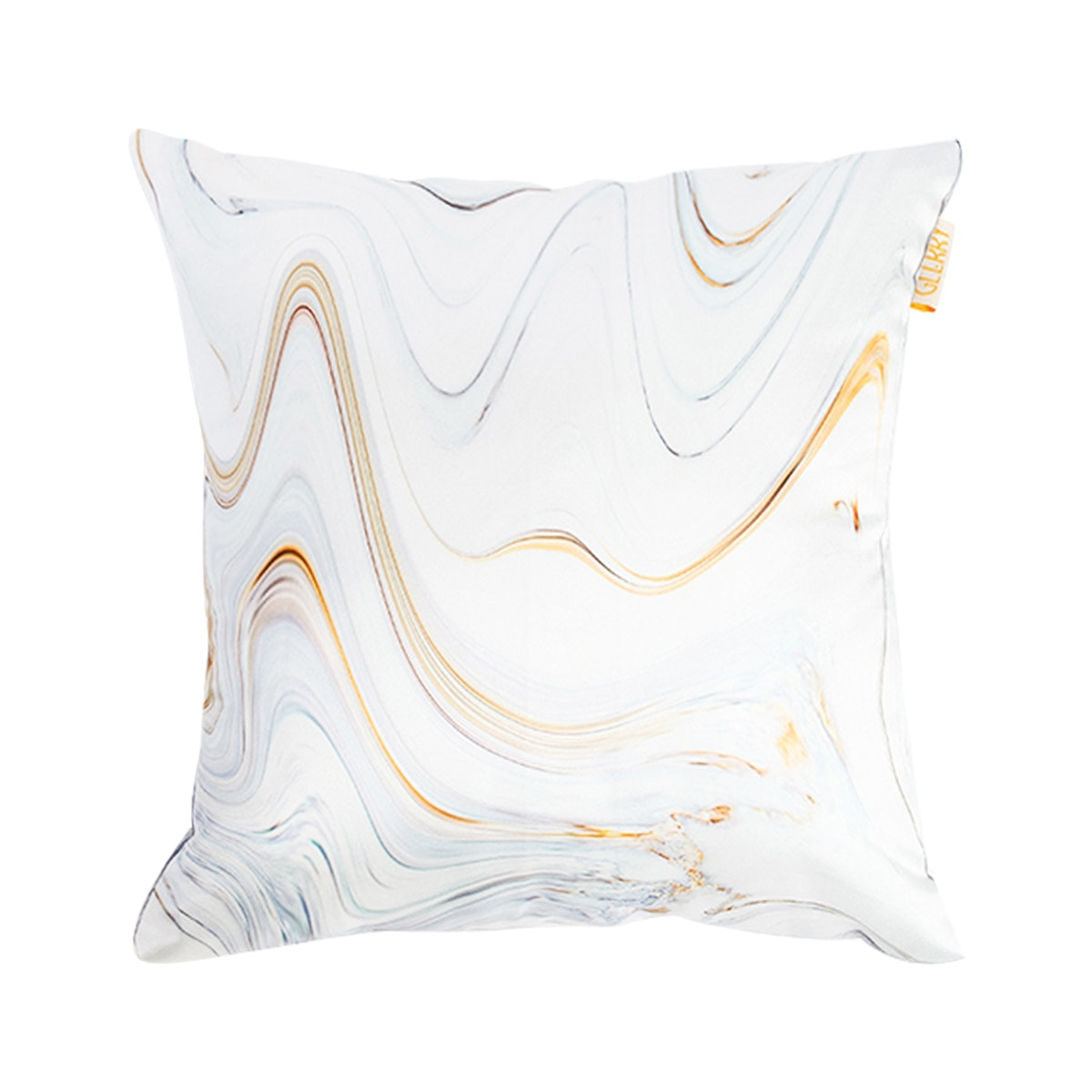 Glerry Home Decor Golden White Marble Cushion 40x40cm