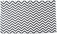 Glerry Home Decor Black Chevron Rug 200x140cm