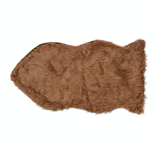 Glerry Home Decor Fish Hazelnut Fur Rug 90x60cm