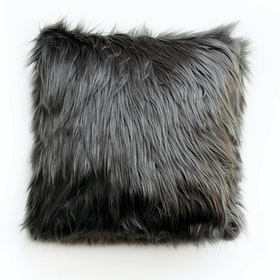 Glerry Home Decor Midnight Fur Cushion 40x40cm (Insert+Cover)