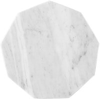 Glerry Home Decor Octagon White Moonstone Marble D20