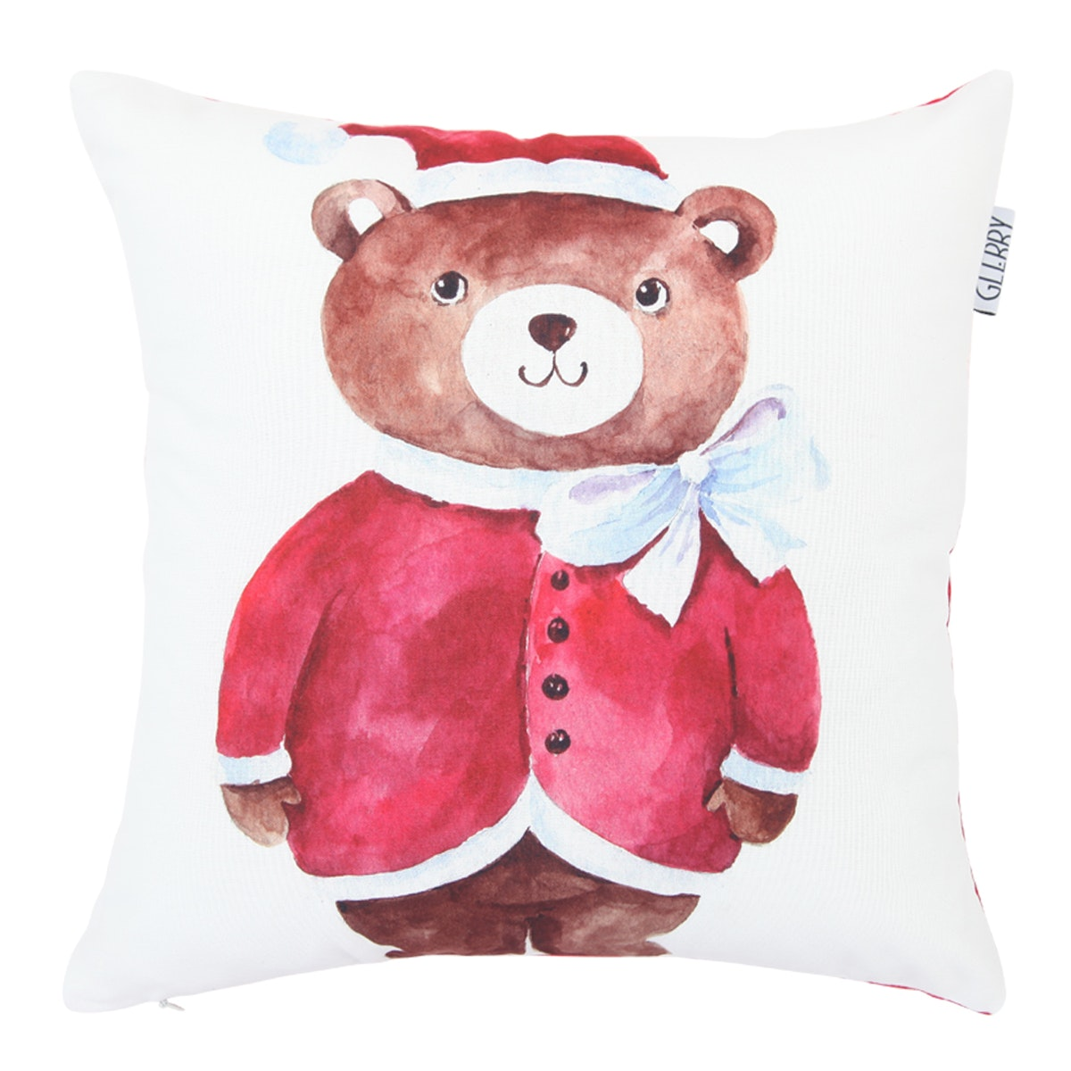 Glerry Home Decor Santa Bear Cushion 40x40cm (Insert+Cover)