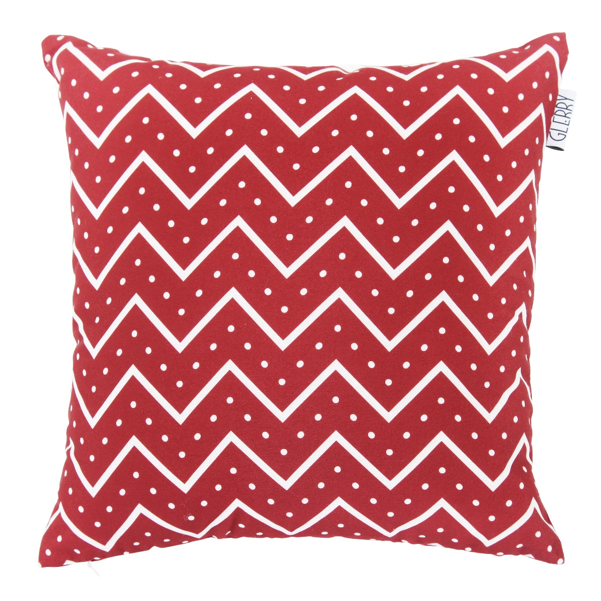Glerry Home Decor Rave Red Chevron Cushion 40x40cm