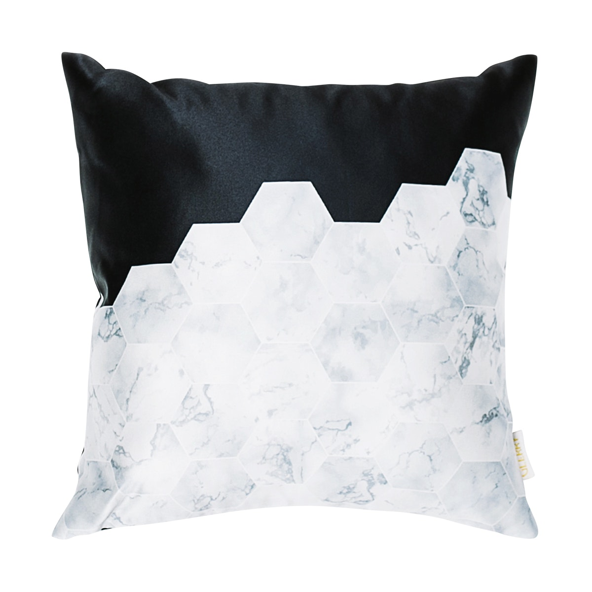 Glerry Home Decor Bw Hex Cushion 40x40cm