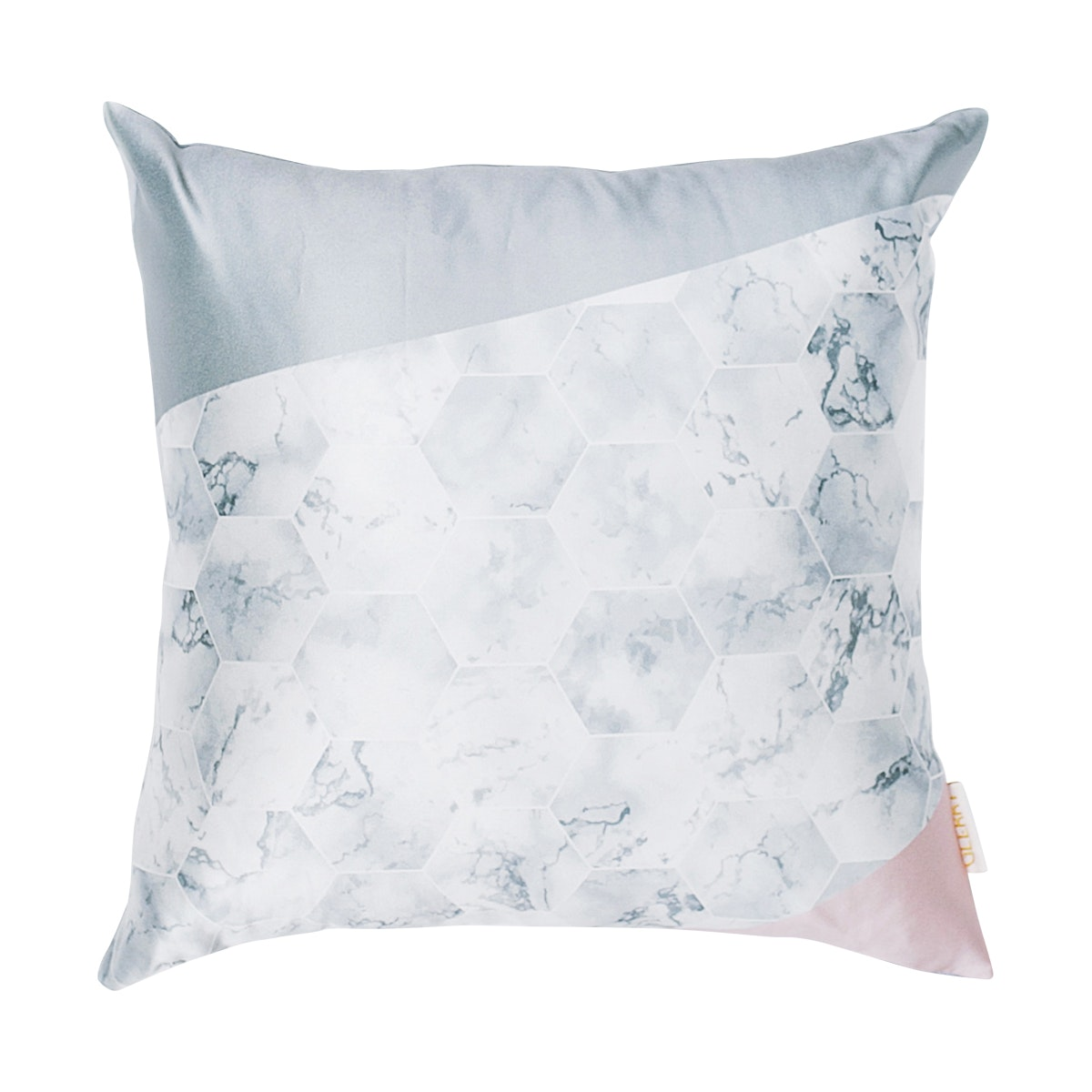 Glerry Home Decor Silver Hex Cushion 40x40cm