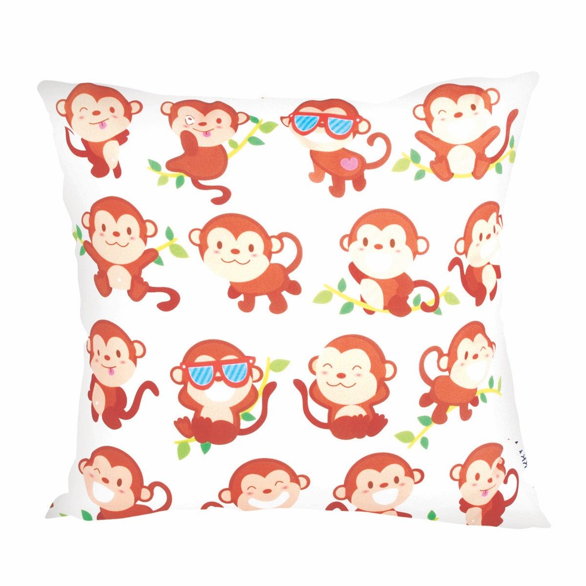 Glerry Home Decor Playful Monkey Cushion 40x40cm