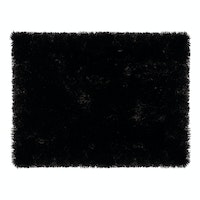 Glerry Home Decor Square Black Fur Rug 200x150cm