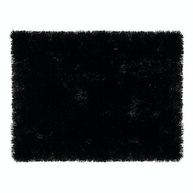 Glerry Home Decor Square Black Fur Rug 300x150cm