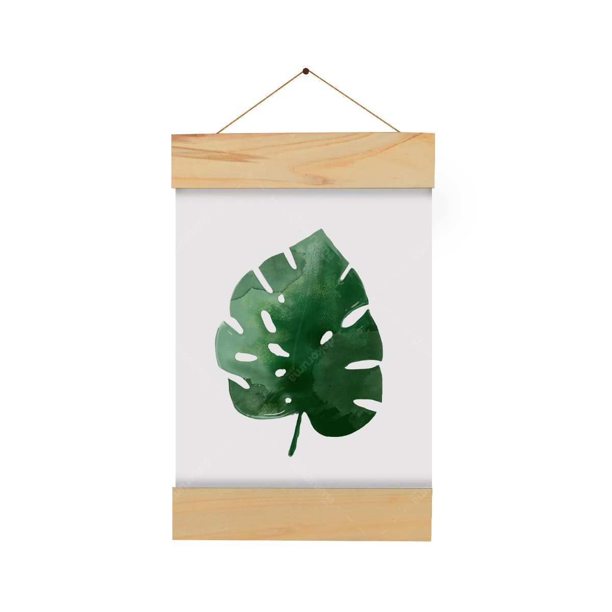 Gulaliku Hanging Frame - Monstera Leaves