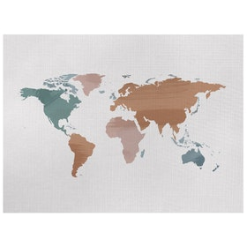 Gulaliku World Map on Canvas