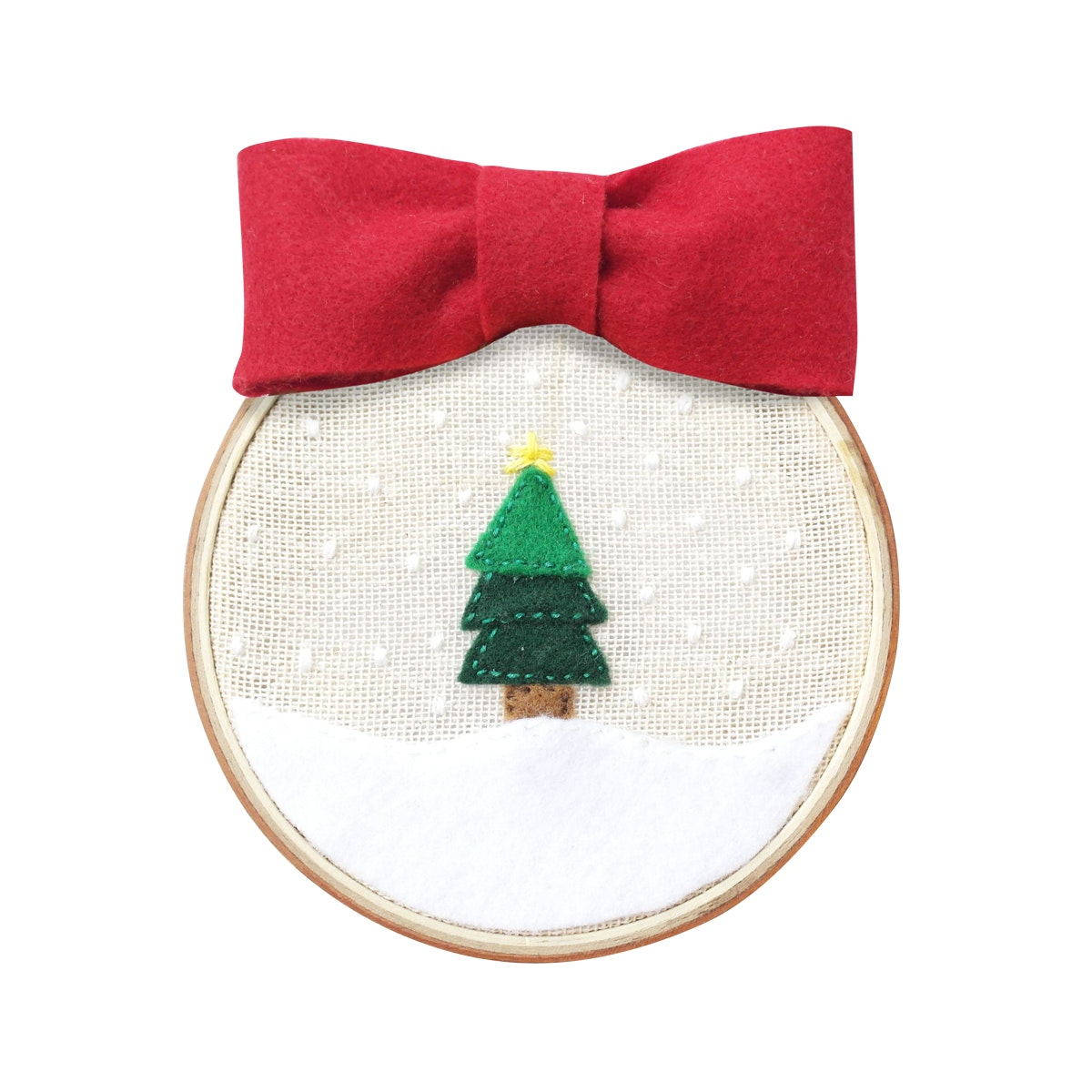 Gulaliku Dekorasi Natal - Hoop Art Embroidery - Christmas Tree small