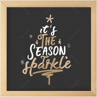 Gulaliku Hiasan Natal -  It's The Season To Sparkle Square
