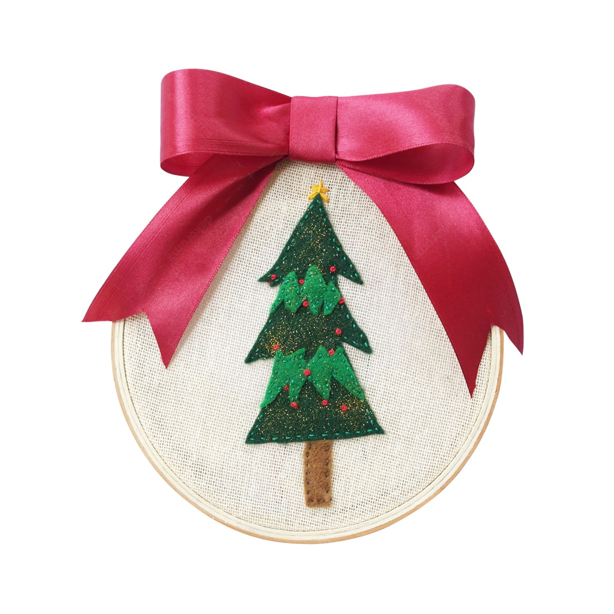 Gulaliku Hiasan Natal - Hoop Art Embroidery - Christmas Tree