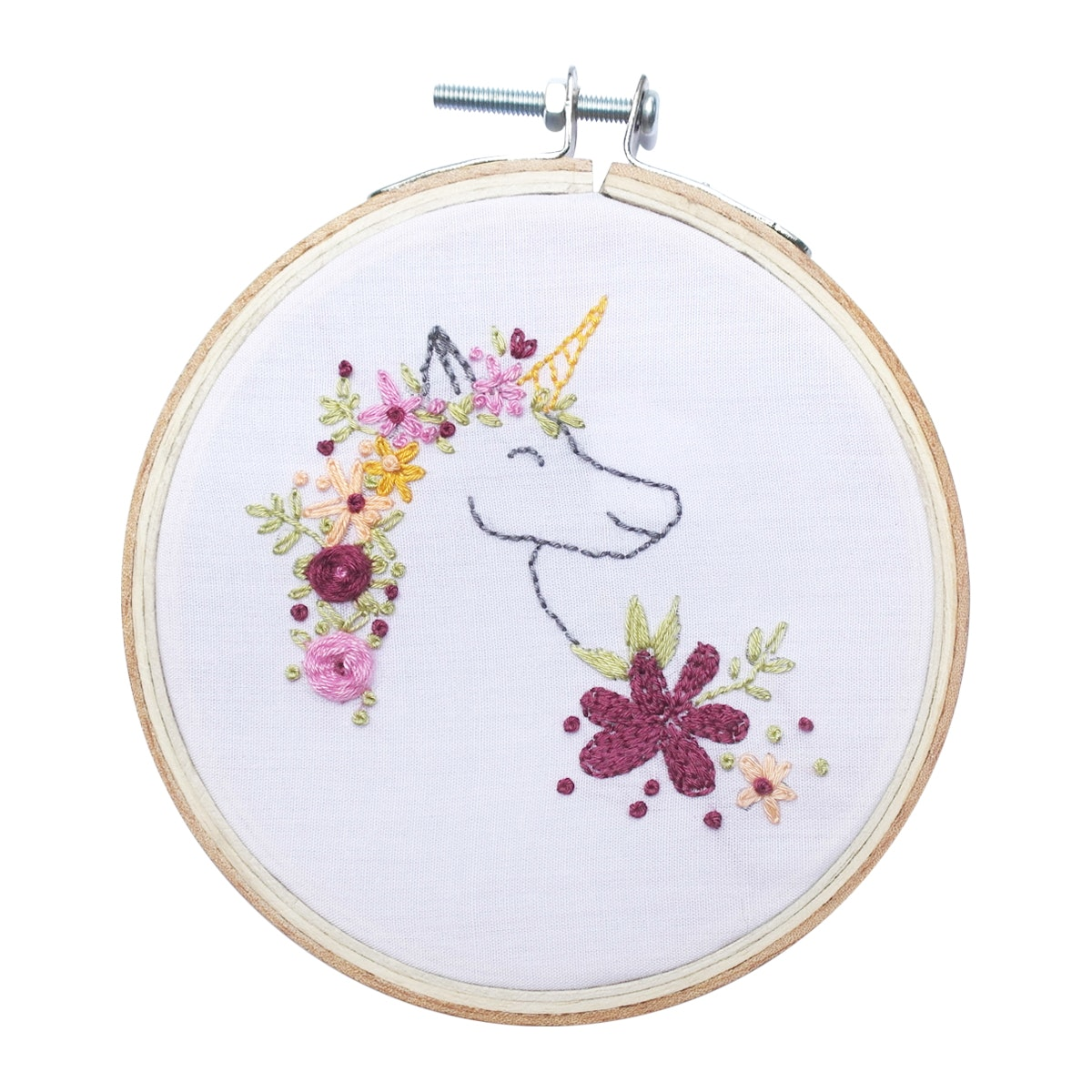Gulaliku Hoop Art Embroidery Unicorn