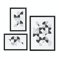 Gulaliku Poster Printing Bundle Dinamic Black And White Frame Black