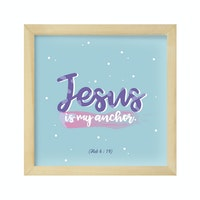 Gulaliku Hiasan Dinding - Jesus Is My Anchor
