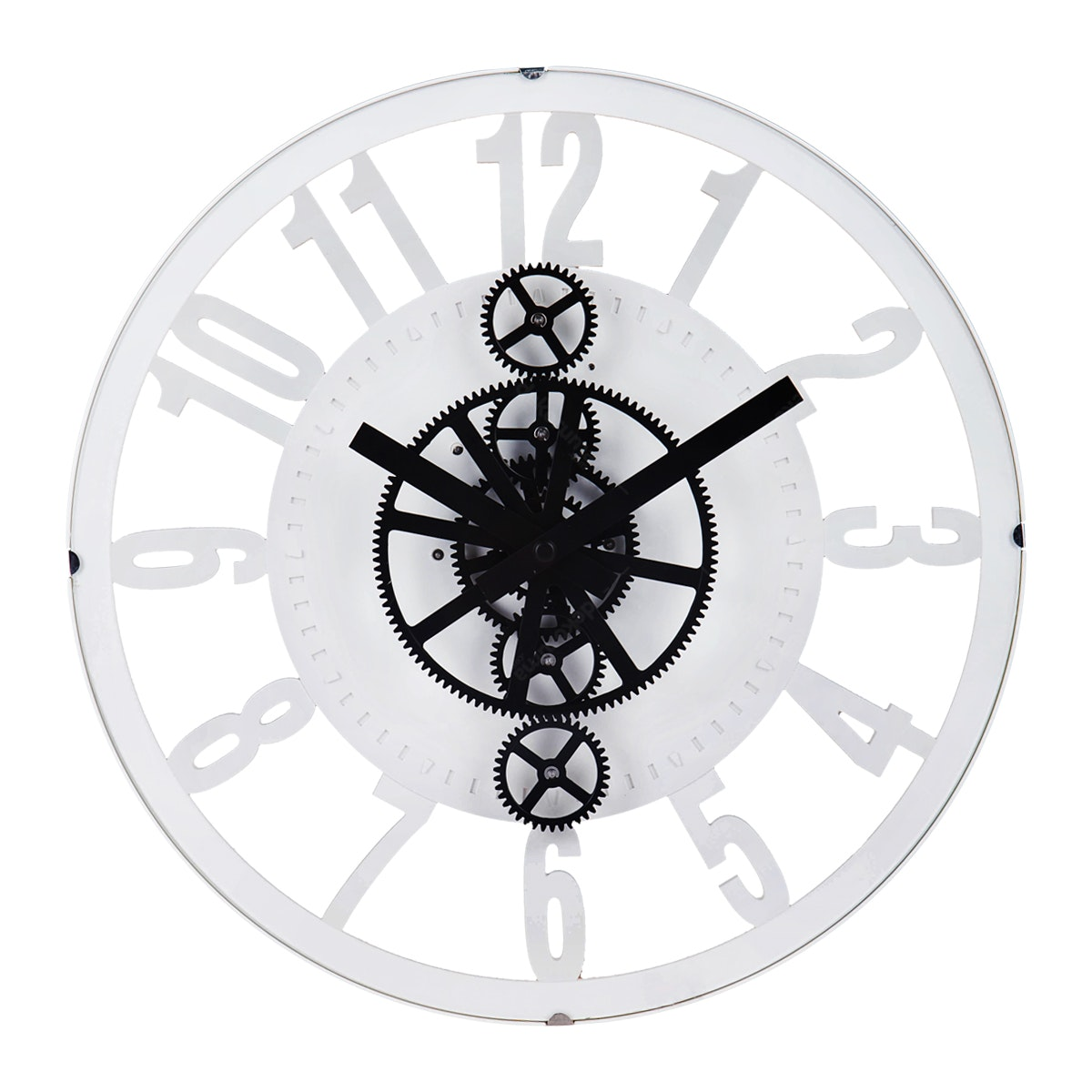 Gearclock Plastic Gear Wall Clock White