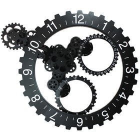 Gearclock Wall Clock Black