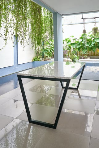 Bilionite Dining Table White Tiles