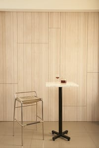 Bilionite Bar Table White Tiles Square