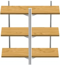 Grrad BRERA Shelving Unit Double Natural White