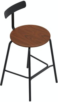 Grrad Shaw Counter Stool Brown Black