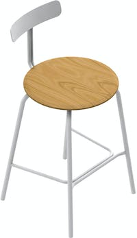 Grrad Shaw Counter Stool Natural White