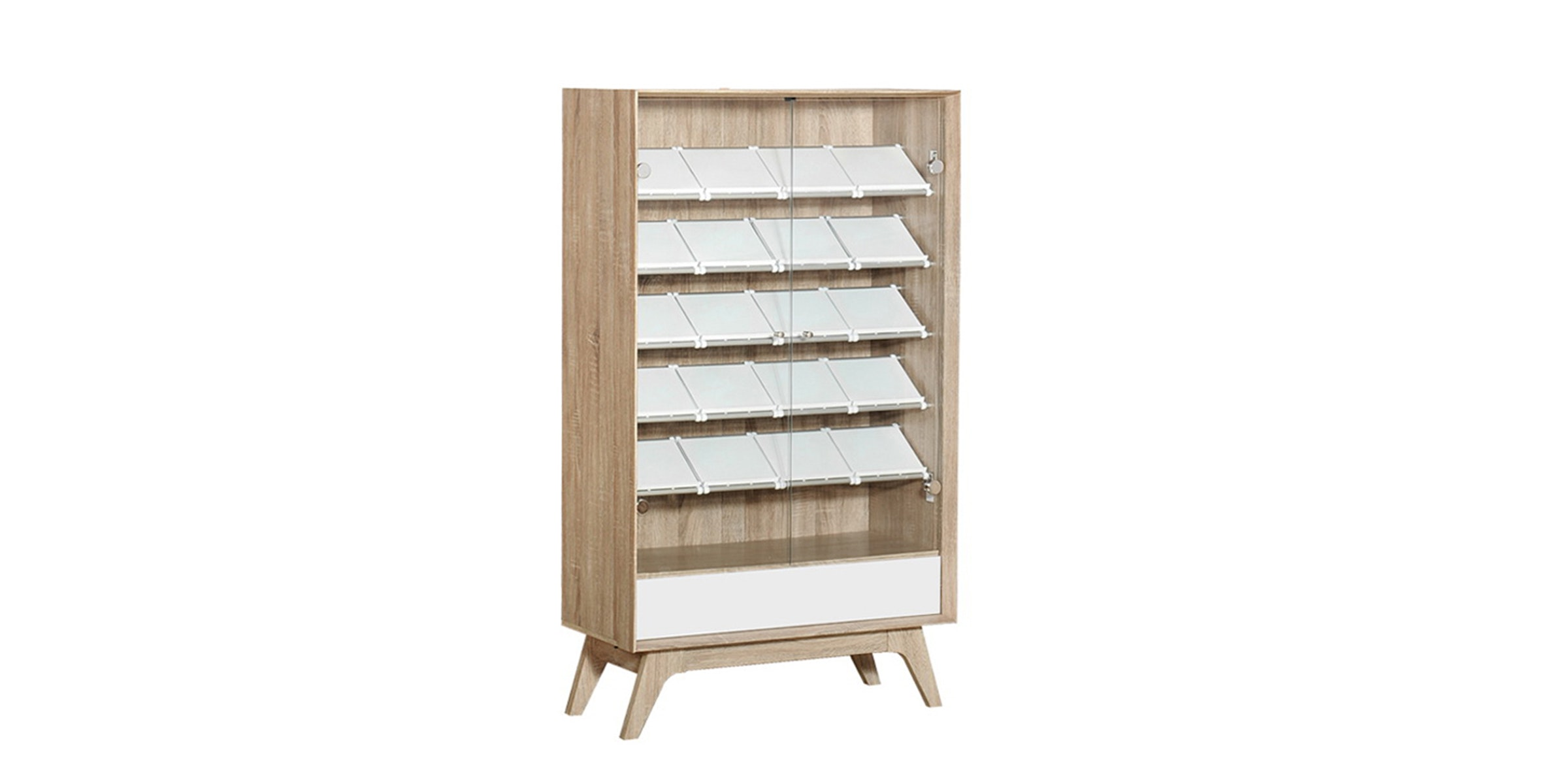 Graver Agusto Shoes Rack 5 Rak Laci Putih