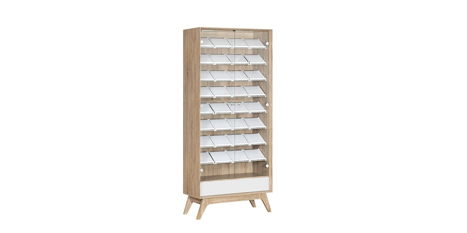 Graver Agusto Shoes Rack 8 Rak Laci Putih