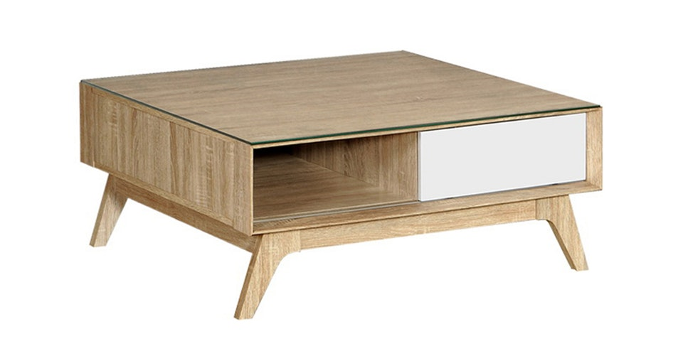 Graver Agusto Coffee Table dengan Laci Sonoma Cream
