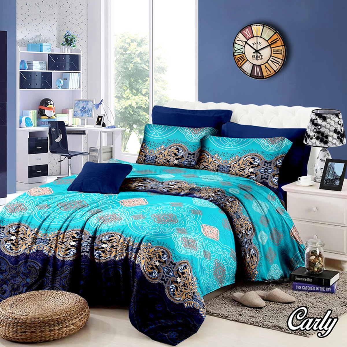 Pesona Set Sprei Motif Carly (Disperse) Uk 180 T20