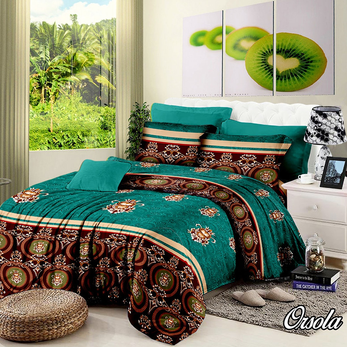 Pesona Set Sprei Motif Orsola (Disperse) Uk 160 T20