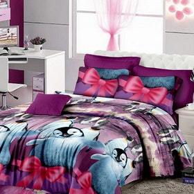 Pesona Set Sprei Motif Happy Feet (Disperse) Uk 160 T20