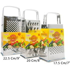 HAN Parutan Grater Stainless 4 Sisi Medium Tebal 0.5mm P4S 22.5cm