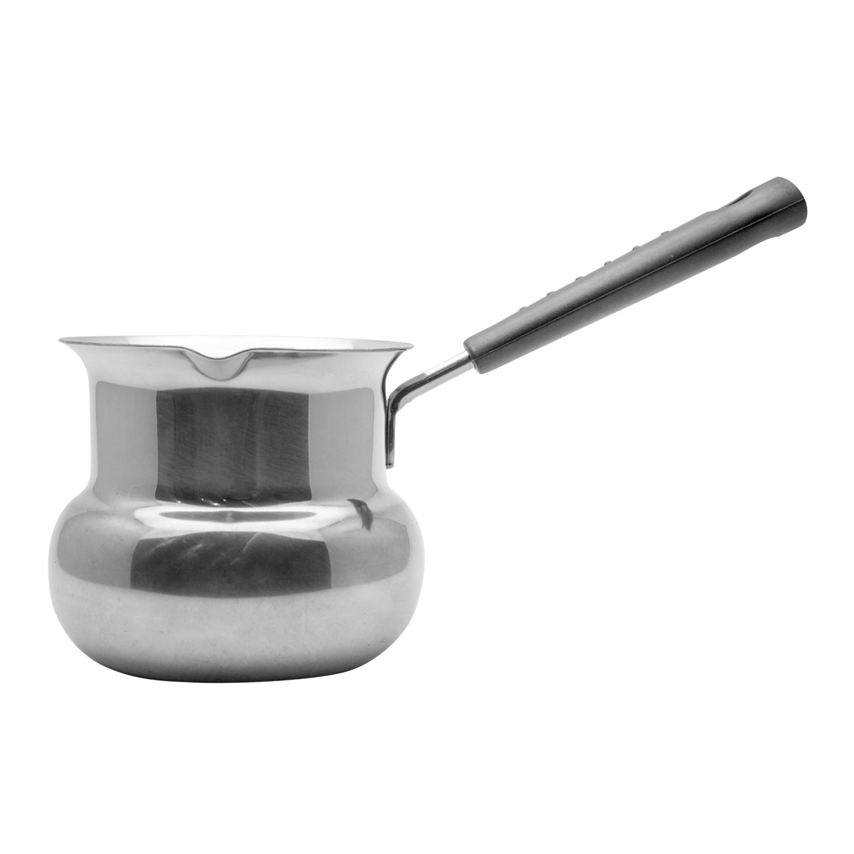 HAN Ibric/Ibrik/Turkish Coffee Maker/Panci Mini Stainless Handle Bakelite Tebal Model Drum IBRD 1080 Ml